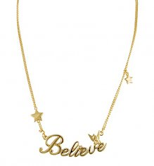 Gold Plated Believe Tinker Bell Necklace from Disney Couture