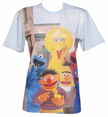Unisex All Over Print Sesame Street Character Print T-Shirt from Mr Gugu & Miss Go