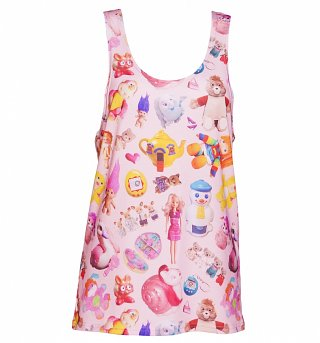 All Over Print Vintage Toys Loose Fit Tank Vest