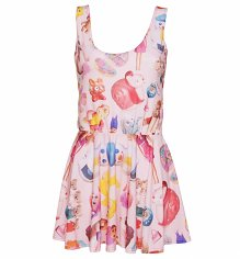 Women's All Over Print Vintage Toys Sleeveless Circle Dress