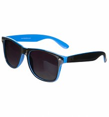 Black And Blue Wayfarer Sunglasses
