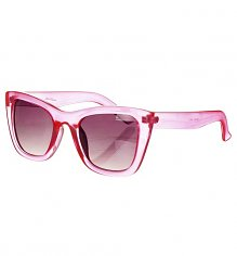 Bright Pink Retro Maria Chunky Wayfarer Sunglasses from Jeepers Peepers