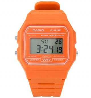 Classic Orange Digital Watch F-91WC-4A2EF from Casio