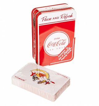 Coca-Cola Playing Cards in a Tin