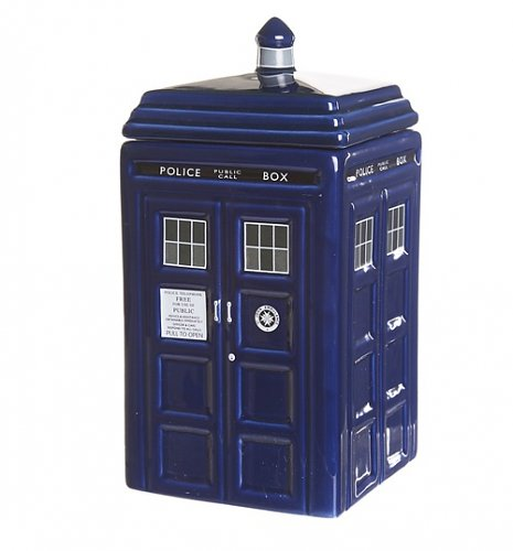 15 perfect items you need to geek up your kitchen - Tardis cookie jar ...
