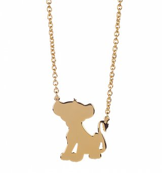 Gold Plated Simba Silhouette Lion King Necklace from Disney Couture