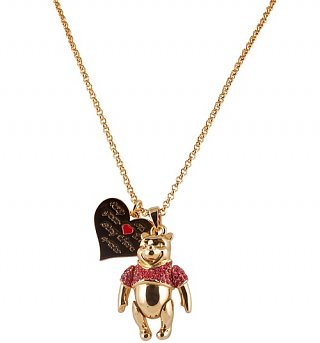 Gold Plated Winnie The Pooh Necklace from Disney Couture