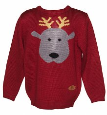 Kids Rudy Reindeer Christmas Jumper from Crazy Granny Clothing