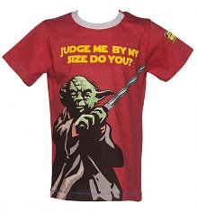 Kids Yoda Judge Me By My Size Star Wars T-Shirt from Fabric Flavours