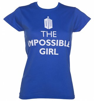 Ladies Blue The Impossible Girl Doctor Who T-Shirt