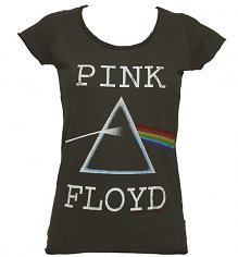 Ladies Charcoal Pink Floyd Dark Side Of The Moon T-Shirt from Amplified Vintage