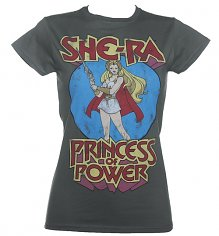 Ladies Charcoal She-Ra Princess Of Power T-Shirt