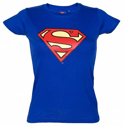 Ladies Classic Superman Logo T-Shirt from Urban Species : Main