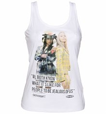 Ladies Clueless Jealous Racerback Tank Top Vest
