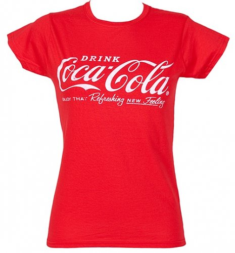 Ladies Coca-Cola Logo T-Shirt : Main