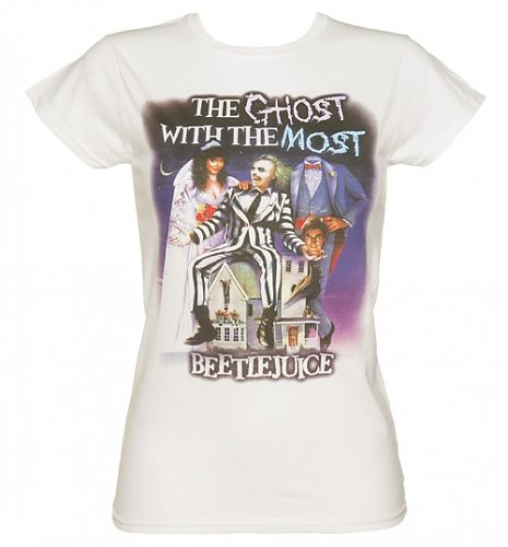 Ladies Ghost With The Most Beetlejuice T-Shirt : Main