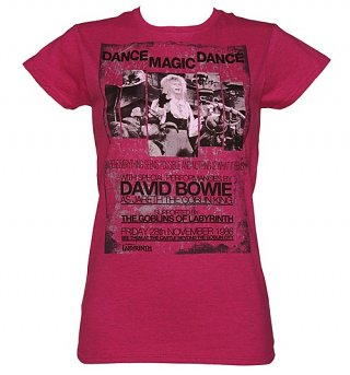 Women's Heather Pink Dance Magic Dance Labyrinth Poster T-Shirt