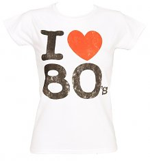Ladies I Heart The 80's T-Shirt