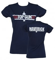 Ladies Navy Top Gun Maverick T-Shirt