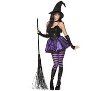 Ladies Rebel Toons Wicked Witch Fancy Dress Costume