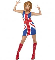 Ladies Union Jack Fancy Dress Costume