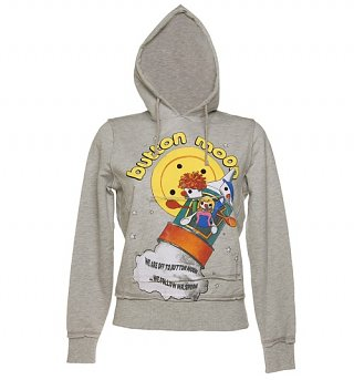 Women's We're Off To Button Moon Hoodie