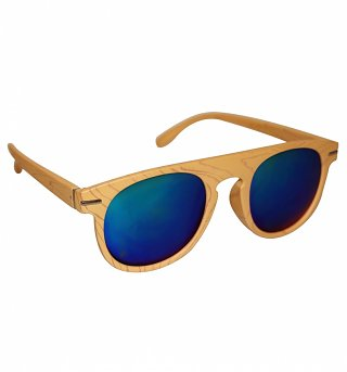 Light Wood Retro Sun Sunglasses from Jeepers Peepers