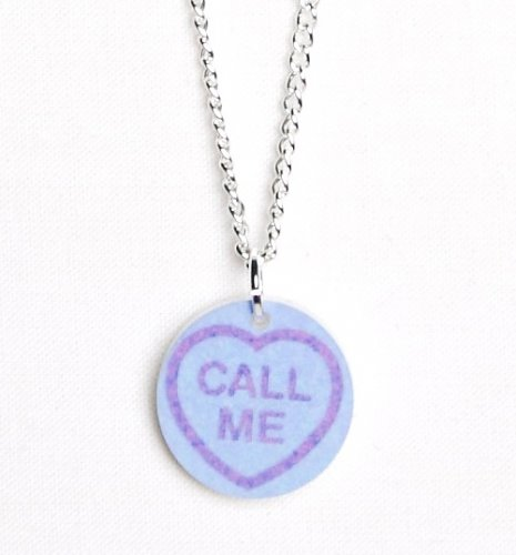 Love Hearts Call Me Necklace from Punky Pins : Main