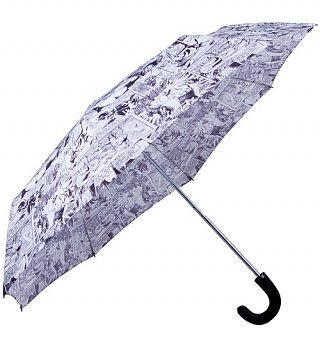 Marvel Comics Characters Black And White Umbrella