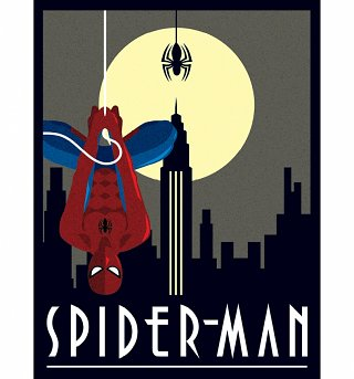 Marvel Comics Spider-Man Deco Canvas Print 30 x 40cm