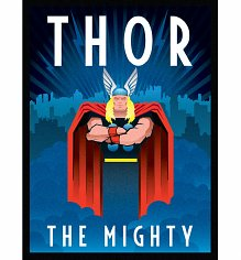 Marvel Comics Thor Deco Canvas Print 30 x 40cm
