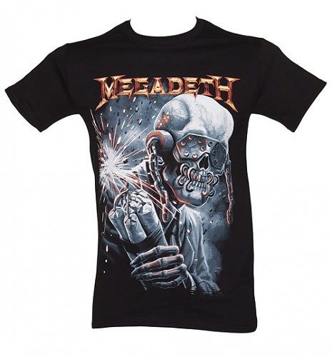 Men's Black Megadeth Dynamite T-Shirt : Main