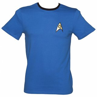 Men's Blue Spock Costume Star Trek Ringer T-Shirt