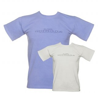 Unisex Blue To White Heat Sensitive T-Shirt from Global Technacolour