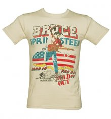 Men's Beige '85 US Tour Bruce Springsteen T-Shirt