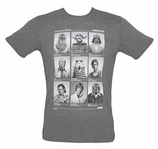 Men's Grey Marl Class Of 77 Star Wars T-Shirt from Chunk