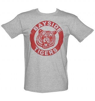 Men's Grey Saved By The Bell Bayside Tigers T-Shirt
