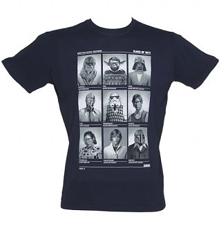 Men's Navy Class Of 77 Star Wars T-Shirt from Chunk