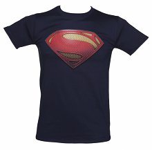 Men's Navy Superman Man Of Steel DC Comics T-Shirt