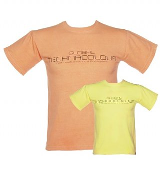 Unisex Orange To Yellow Heat Sensitive T-Shirt from Global Technacolour