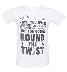 Men's White Round The Twist T-Shirt