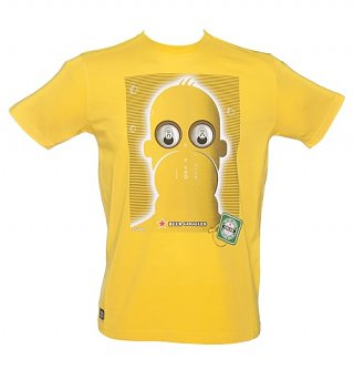 Men's Yellow Beer Goggles T-Shirt from Chunk