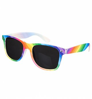 Multi Colour Rainbow Wayfarer Sunglasses