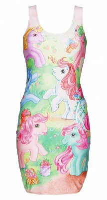 Women's My Little Pony Vintage Scene Body-con Dress