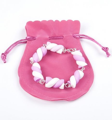 Pink And White Flump Bracelet from Bits and Bows : Main