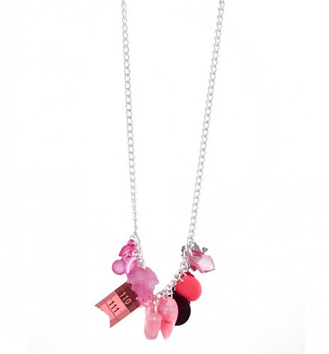 Pink Multi-Mega Retro Charm Necklace from Rock N Retro : Main
