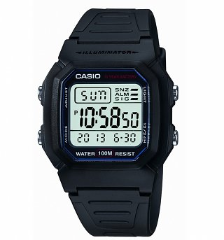 Retro Black Illuminator Watch W-800H-1AVES from Casio