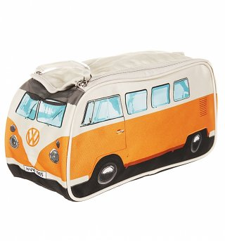 Retro Orange VW Campervan Wash Bag