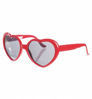 Retro Red Heart Sunglasses from Punky Pins
