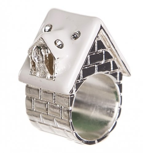 Silver Snowed In Fairytale House Ring from Me & Zena : Main